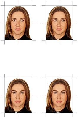 Passfoto junge Frau mit offenen Haaren.