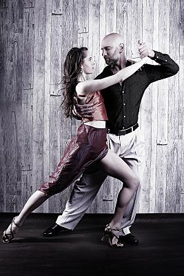 Tangofoto von einem professionelen Paar